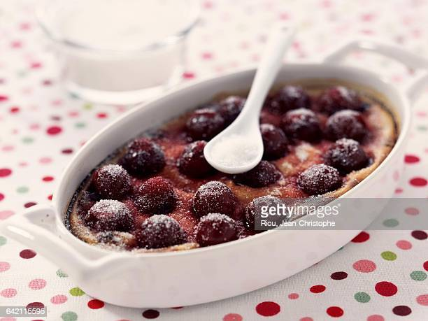 Cherry clafoutis ( step by step : final)