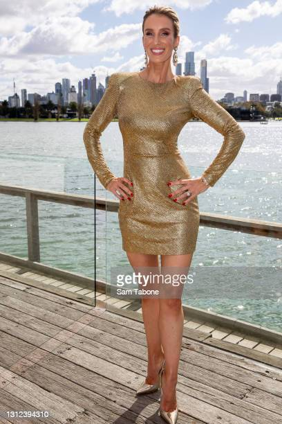 Cherry Dipietrantonio attends the cast announcement for The Real Housewives of Melbourne season 5 on April 14, 2021 in Melbourne, Australia.