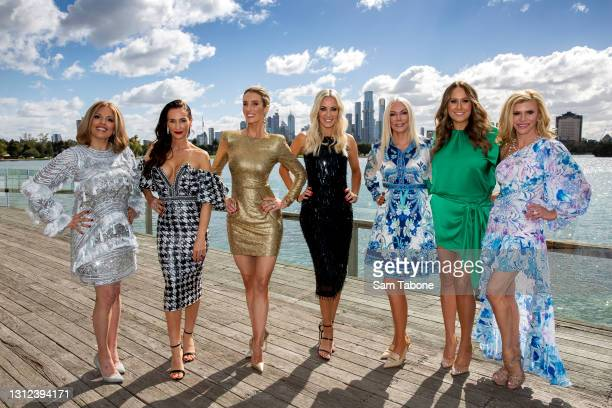 Cherry Dipietrantonio , Kyla Kirkpatrick, Anjali Rao, Simone Elliott, Janet Roach, Jackie Gillies and Gamble Breaux attends the cast announcement for...