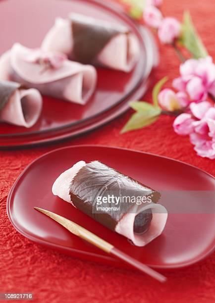 Cherry flavored rice cake