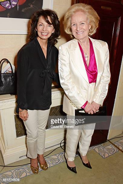 Cherry Gillespie and Lady Rona Delves Broughton attend a drinks reception hosted by The House Of Britannia to celebrate their new joint venture with...