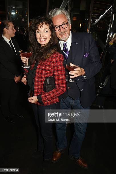 Cherry Gillespie and Rob Dickins attend the Christmas Installation unveiling by Sir David Attenborough at Aqua Shard on November 16 2016 in London...