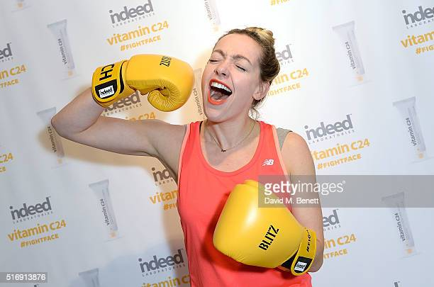 Cherry Healey attends the skincare launch of Vitamin C24 hosted by Indeed Labs who partnered with Edith Bowman Cherry Healey Zanna Van Dijk and Pip...