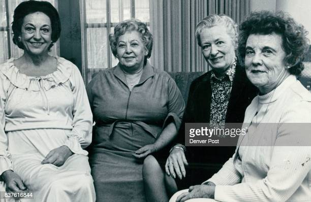 Cherry Hills Symphony Unit Plans Luncheon Fashions Show Committee members include from left Mrs William Hulwick Mrs Ernest Tomeo Mrs William Van...