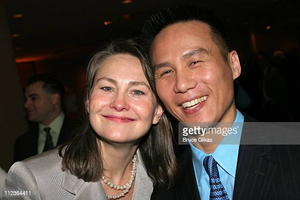 Cherry Jones and B D Wong during 71st Annual Drama League Awards at Marriott Marquis Hotel in New York NY United States