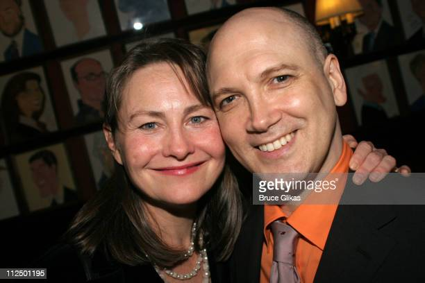 Cherry Jones and Charles Busch during 'Glengarry Glen Ross' Broadway Opening Night Curtain Call and After Party at The Royale Theater and Sardi's in...