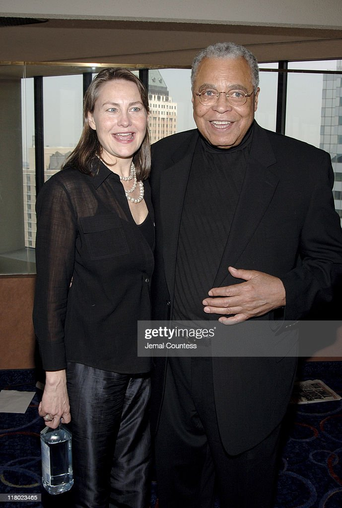 Cherry Jones and James Earl Jones during 59th Annual Tony Awards - 'Meet The Nominees' Press Reception at The View at The Marriot Marquis in New York City, New York, United States.