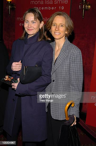 Cherry Jones and Mary O'Conner during Mona Lisa Smile New York Premiere Inside Arrivals at Ziegfeld Theater in New York City New York United States