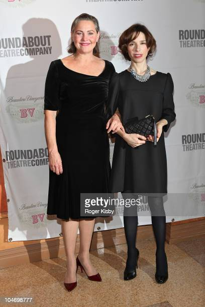 Cherry Jones and Sally Hawkins attend the opening night of 'Mrs Warren's Profession' at Roundabout Theatre Company's American Airlines Theatre on...