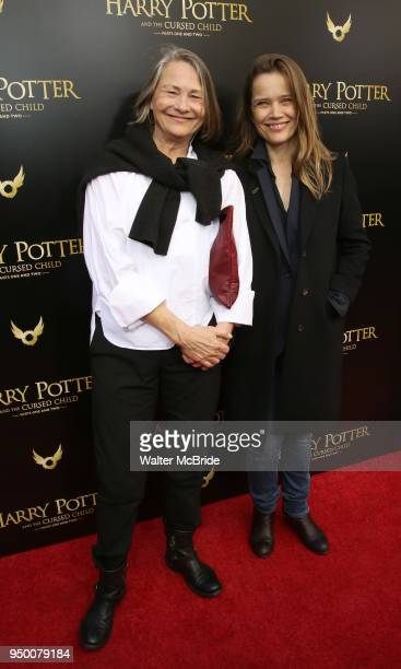 Cherry Jones and Sophie Huber attend the Broadway opening day performance of 'Harry Potter and the Cursed Child Parts One and Two' at The Lyric...