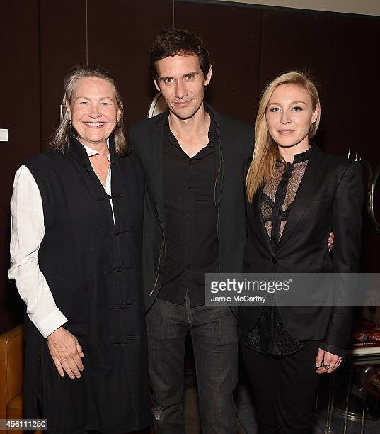 Cherry Jones director Christian Camargo and Juliet Rylance attend 'Days And Nights' New York Premiere After Party at Neuehouse on September 25 2014...