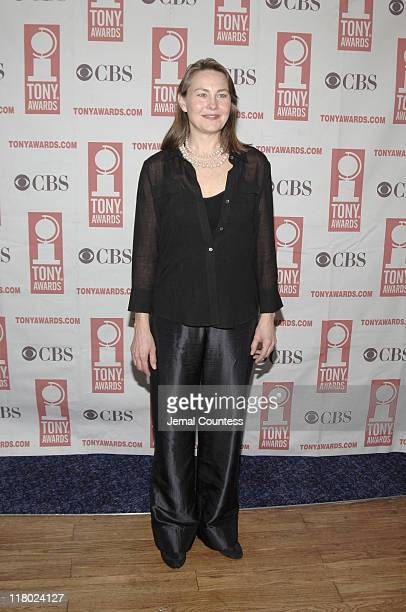 Cherry Jones during 59th Annual Tony Awards 'Meet The Nominees' Press Reception at The View at The Marriot Marquis in New York City New York United...