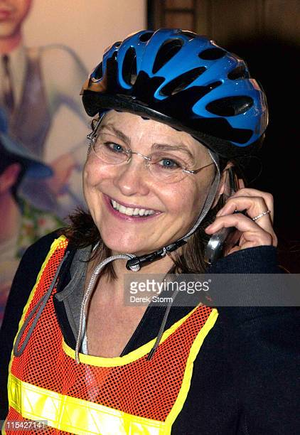 Cherry Jones during Cherry Jones Sighting in New York City April 15 2006 at Midtown in New York City New York United States