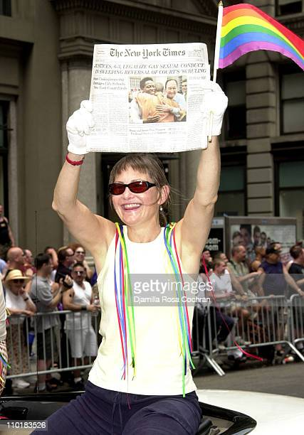 Cherry Jones Grand Marshall of the 2003 Gay Pride March