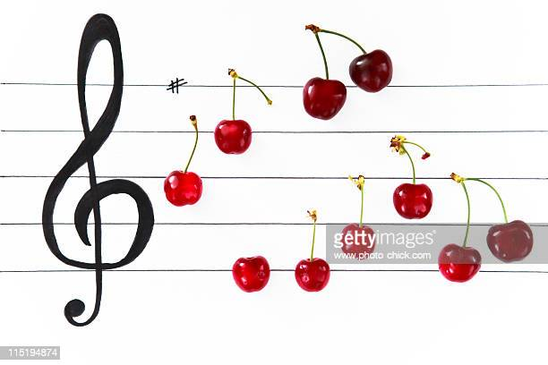 Cherry music notes