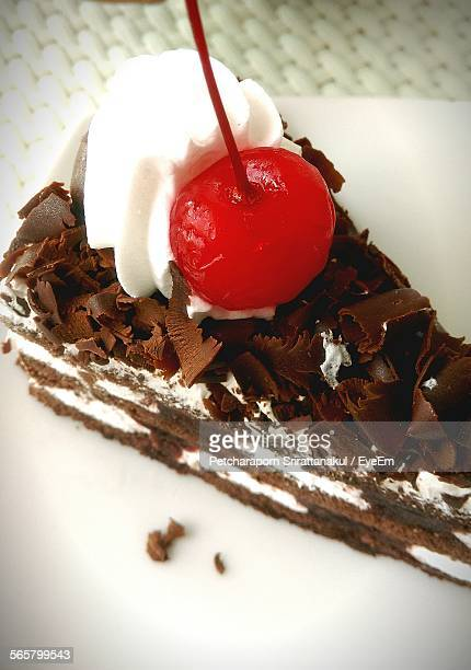 Cherry On Top Of Chocolate Cake