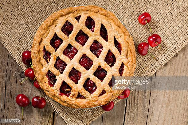 Cherry Pie And Fresh Organic Cherries