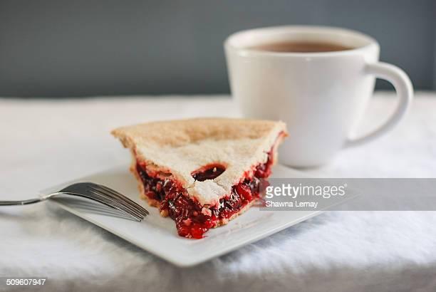 Cherry pie and tea