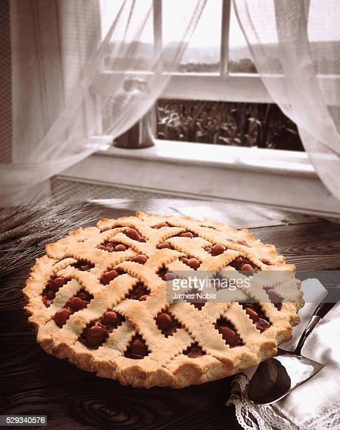 Cherry pie by the open window