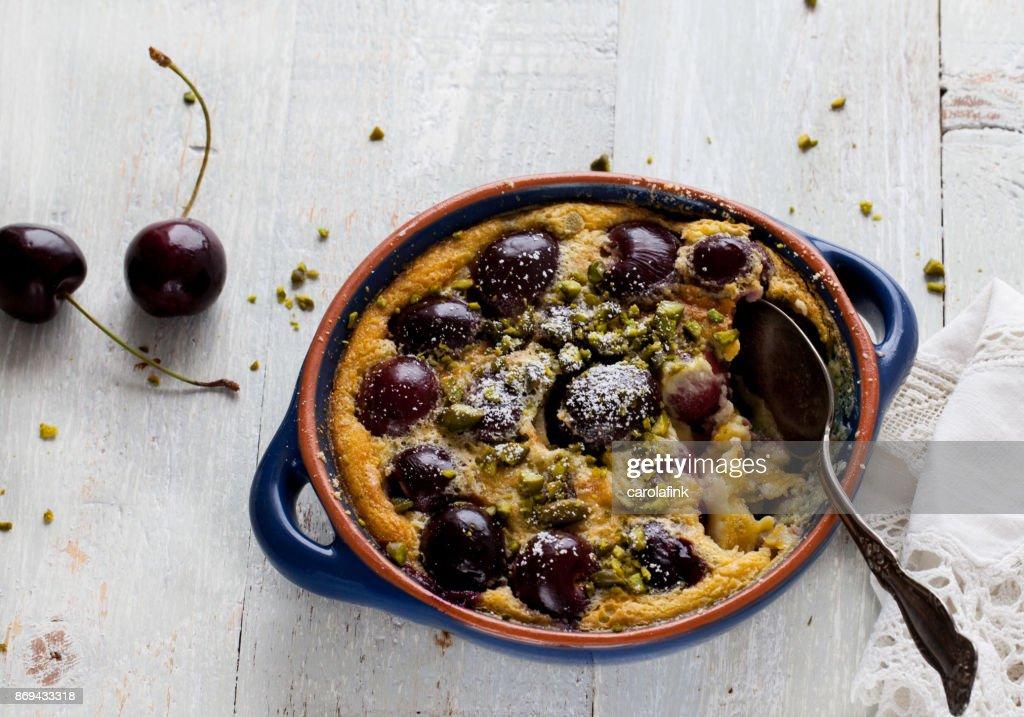 Cherry Soufflé : Stock-Foto