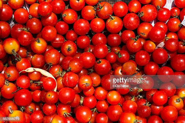 Cherry tomato, small tomato, greengrocer on the st