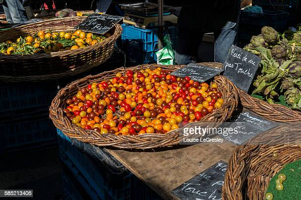 Cherry tomatoes at a local market