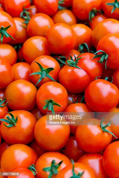 Cherry tomatoes, close up, full frame
