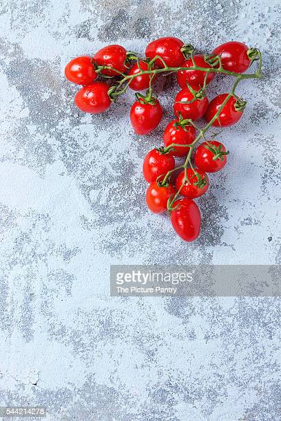 Cherry tomatoes over white