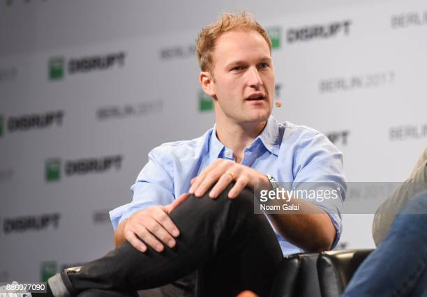Cherry Ventures Founding Partner Christian Meermann talks at TechCrunch Disrupt Berlin 2017 at Arena Berlin on December 5 2017 in Berlin Germany