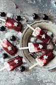Cherry yogurt popsicles