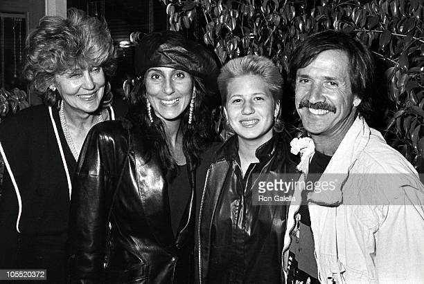 Cher's Mother Cher Chasity Bono and Sonny Bono during Cher and Family at Bono's Restuarant April 27 1983 at Bono's Restuarant in Hollywood California...