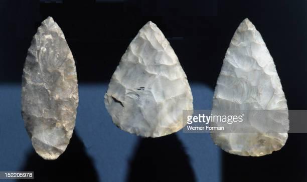 Chert lanceolate blades USA Paleo Indian 7000 BC Eastern Woodlands