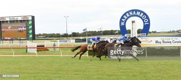 Cherub ridden by Damien Thornton wins the Moyne Shire SV Maiden Plate at Warrnambool Racecourse on November 30 2017 in Warrnambool Australia