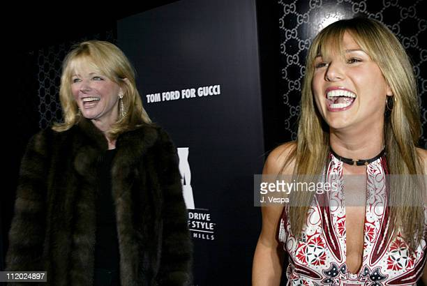 Chery Tiegs and Daisy Fuentes during Rodeo Drive Walk of Style Event Honoring Tom Ford Red Carpet at Rodeo Drive in Beverly Hills California United...