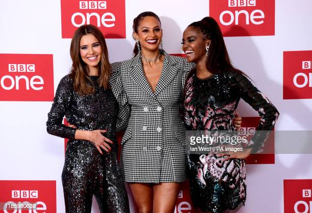 Cheryl Alesha Dixon and Oti Mabuse attending The Greatest Dancer Photocall held at the Soho Hotel London
