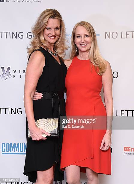Cheryl Allison and Randi Silverman attend NO LETTING GO Movie NYC Theatrical Premiere at City Cinemas Village East on March 18 2016 in New York City