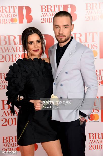 AWARDS 2018 *** Cheryl and Liam Payne attend The BRIT Awards 2018 held at The O2 Arena on February 21 2018 in London England