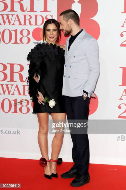 AWARDS 2018*** Cheryl and Liam Payne attend The BRIT Awards 2018 held at The O2 Arena on February 21 2018 in London England