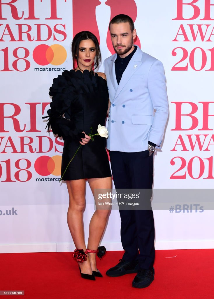 Cheryl and Liam Payne attending the Brit Awards at the O2 Arena, London.