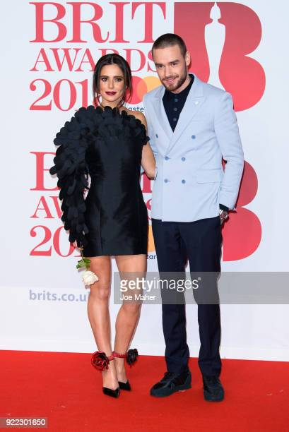 AWARDS 2018 *** Cheryl and Liam Payne attends The BRIT Awards 2018 held at The O2 Arena on February 21 2018 in London England