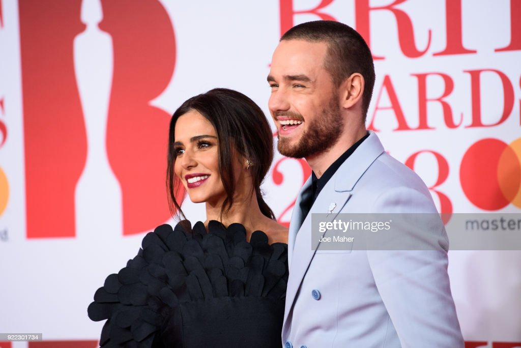 Cheryl and Liam Payne attends The BRIT Awards 2018 held at The O2 Arena on February 21, 2018 in London, England.