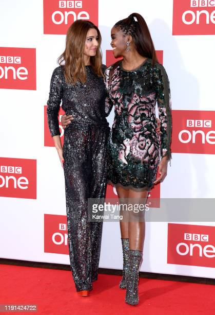 "Cheryl and Oti Mabuse attend ""The Greatest Dancer"" photocall at Soho Hotel on December 02, 2019 in London, England."