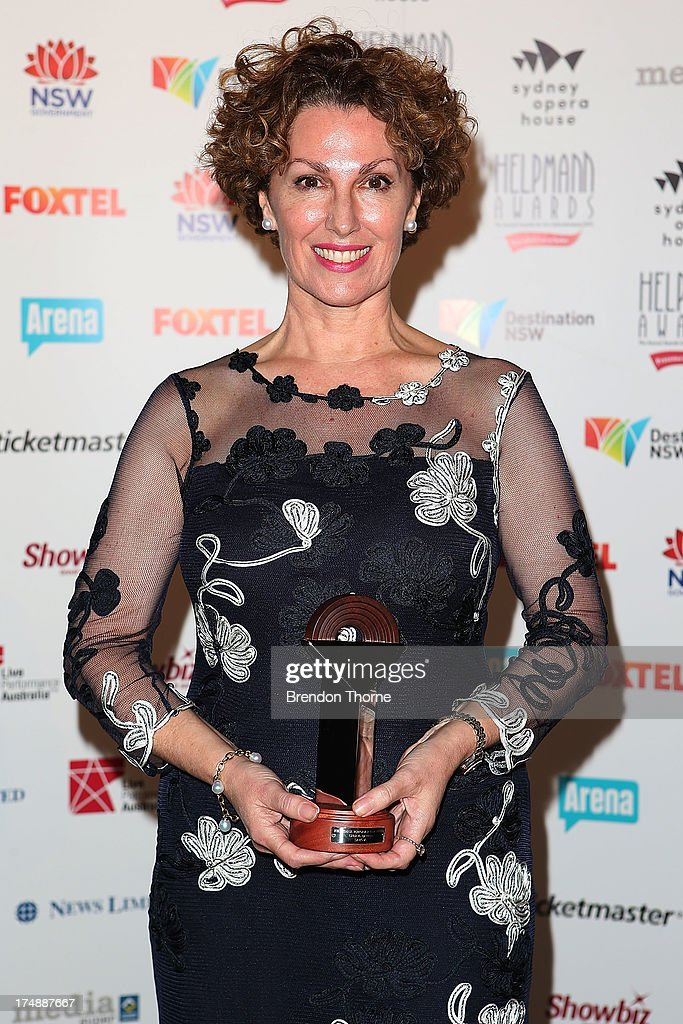 Cheryl Barker poses with the award for Best Female Performer in a Opera at the 2013 Helpmann Awards at the Sydney Opera House on July 29, 2013 in Sydney, Australia.