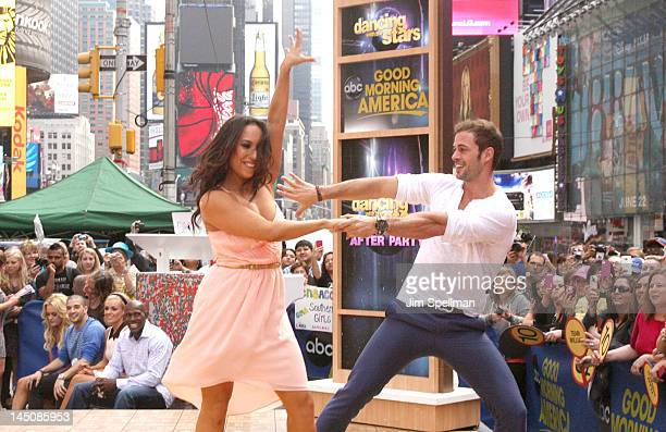 Cheryl Burke and William Levy performs on ABC's Good Morning America in Times Square on May 23 2012 in New York City