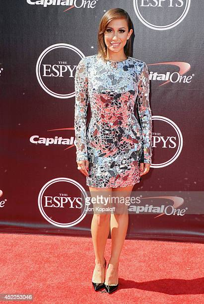 Cheryl Burke arrives at the 2014 ESPYS at Nokia Theatre LA Live on July 16 2014 in Los Angeles California