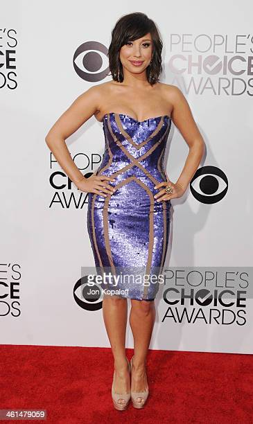 Cheryl Burke arrives at The 40th Annual People's Choice Awards at Nokia Theatre LA Live on January 8 2014 in Los Angeles California