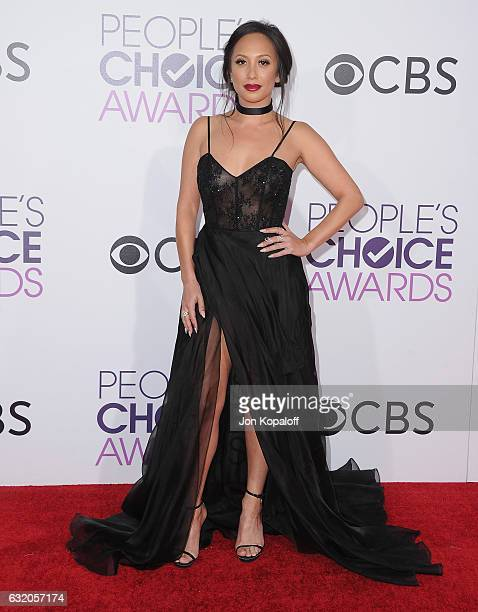 Cheryl Burke arrives at the People's Choice Awards 2017 at Microsoft Theater on January 18 2017 in Los Angeles California