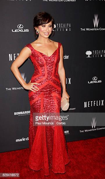 Cheryl Burke arrives at the Weinstein Company Golden Globes AfterParty