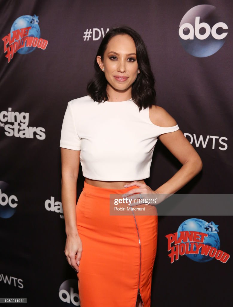 Cheryl Burke attends Dancing With The Stars Season 27 Cast Reveal Red Carpet At Planet Hollywood Times Square at Planet Hollywood Times Square on September 12, 2018 in New York City.