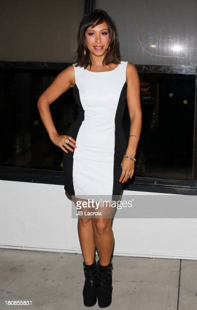 Cheryl Burke hosts a viewing party for the premiere of 'Dancing with the Stars' at Wendy's on September 16 2013 in Los Angeles California